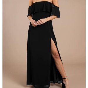 "Maxi dress ""into you black ruffle top"""